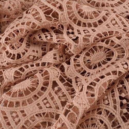 Guipur crochet rosa