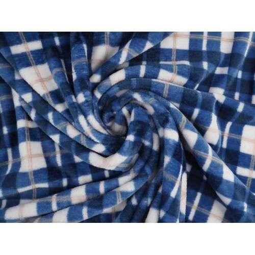 Coralina cuadros blanco y azul
