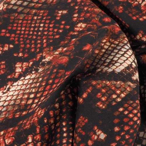 Bielastico animal print tonos teja