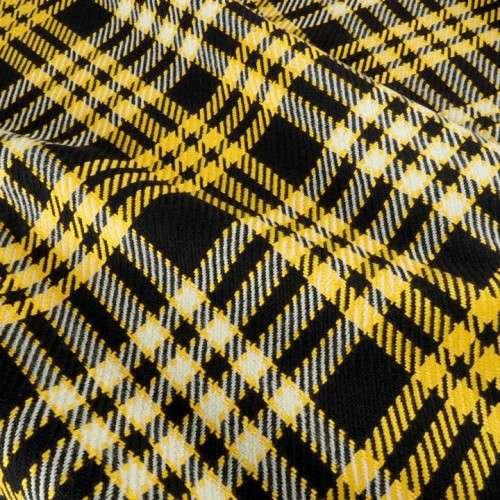 Cuadros abrigo de  amarillo y negro