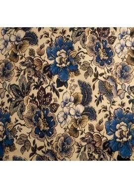 Jacquard tapicero flores azules