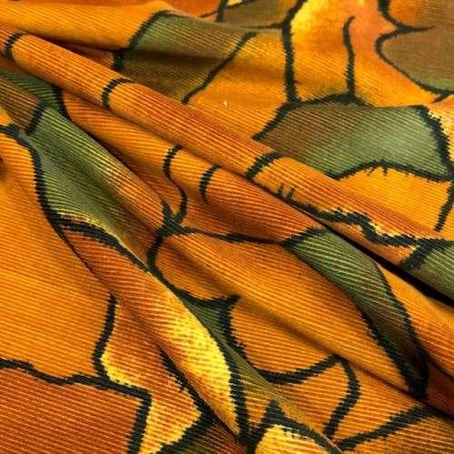 Pana estampada tonos naranjas