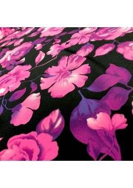 Crepé flores fondo negro