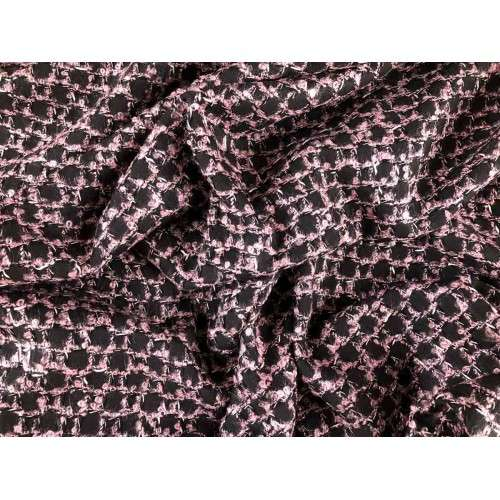 Chanel de cuadros negro y rosa palo