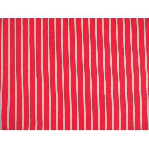 Sarga listada vertical roja